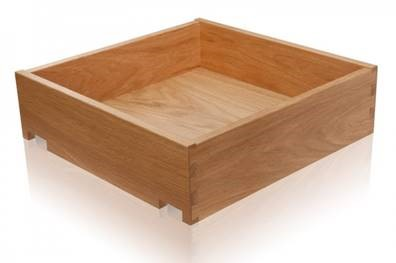 Cutlery Oak Dovetail Drawer Box  - 440mm Depth - Ext. Cabinet width 1000mm
